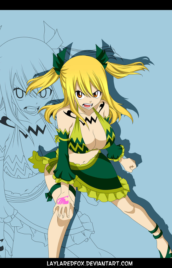 FT 389 - Lucy's Aquarius Form (Color) by LaylaRedfox on DeviantArt