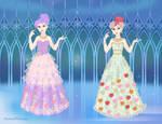 Fancy Ladies in Fancy gowns