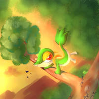 Snivy Quick Paint by CassedyDuel