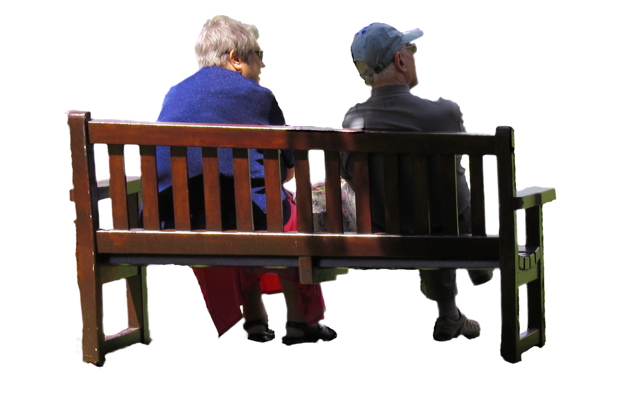 Old Couple On Park Bench   Png Stock By Supersnapp