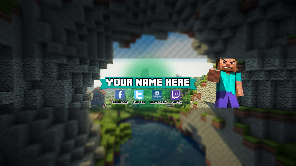 Minecraft Banner Maker Minecraft Youtube Banner 2 by Z1oiTlv3