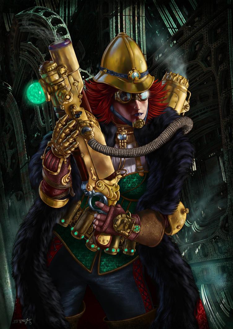 Steampunk Warrior by loboto