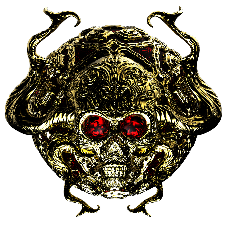 GOLDEN SKULL by loboto