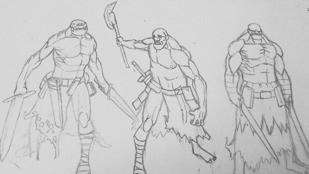 Ogre sketches  by NappyBoiy