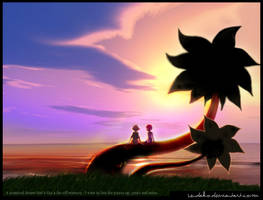 Sora and Kairi by sendako