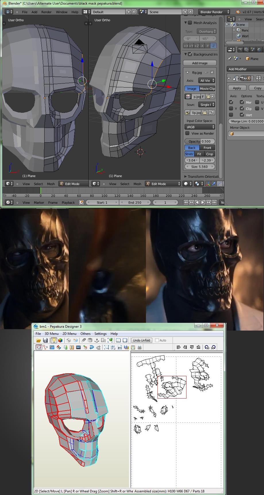Batman Arkham Origins Black Mask Papercraft