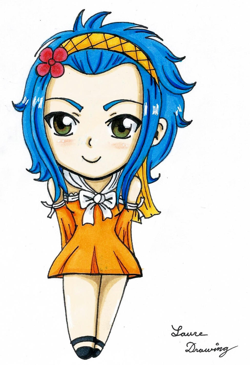Levy chibi fairy tail fanart by Laure-Drawing on DeviantArt