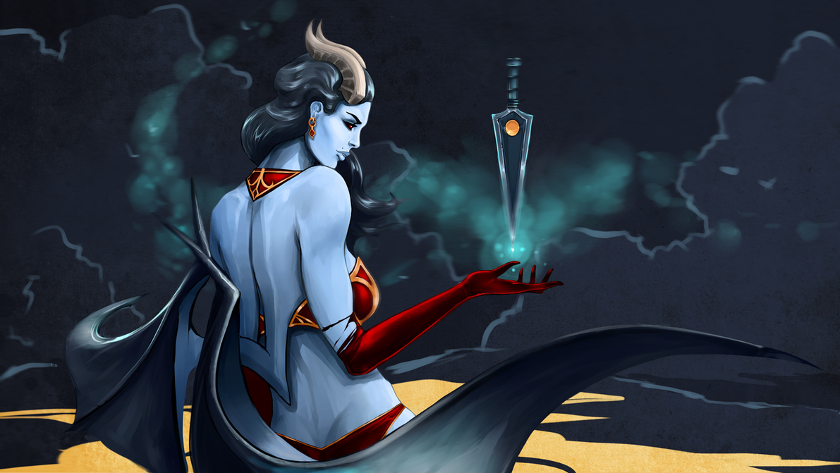 Queen of Pain - DotA2 by Swenom on DeviantArt