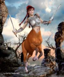 Centaur Attack by Radthorne