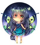 Commission: Butterflies at night