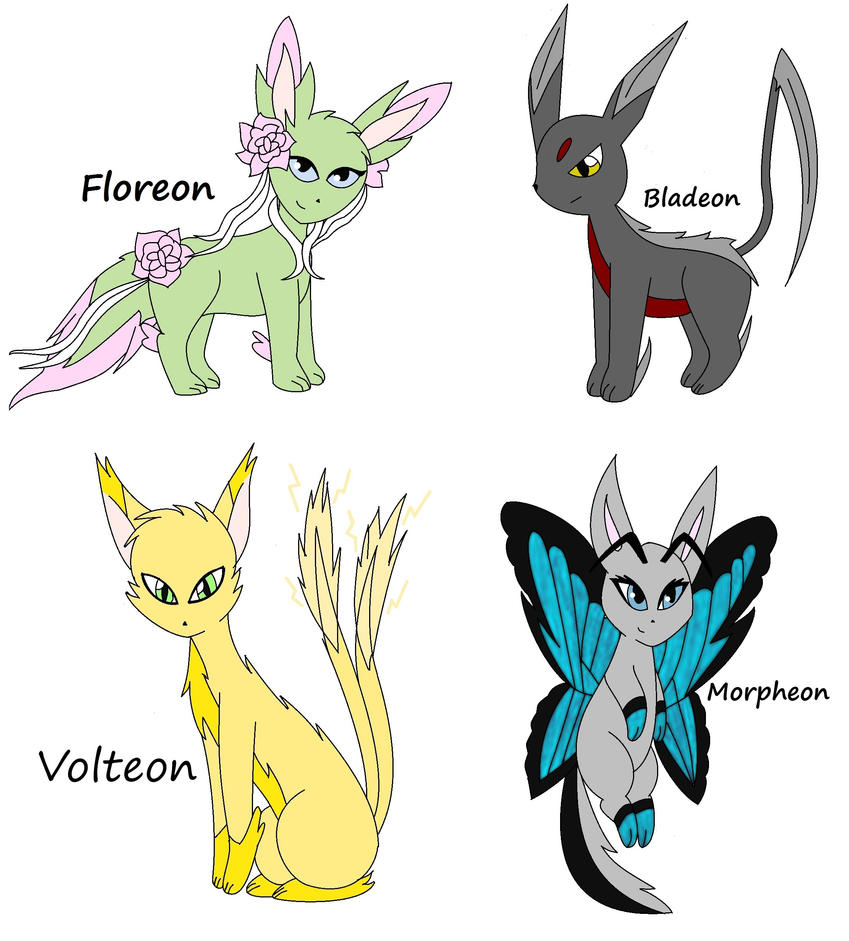 Fake Eevee Evolutions Challenge 1 of 4~ by ...