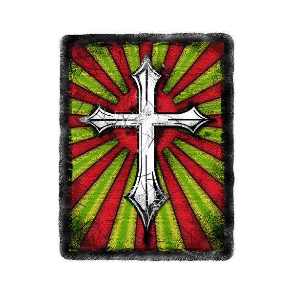 Red Green Cross Grunge by ca-booth