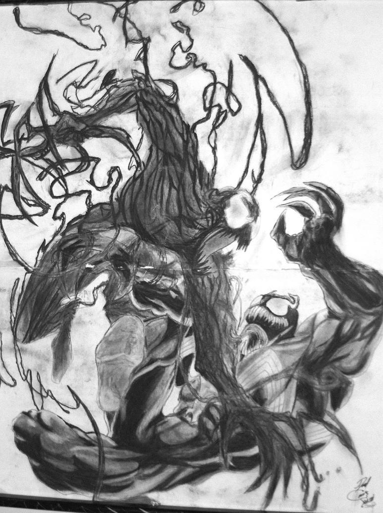 Venom vs Carnage by looneypornaturaleza on DeviantArt