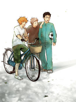 Haikyuu!! Yukigaoka Junior High Trio