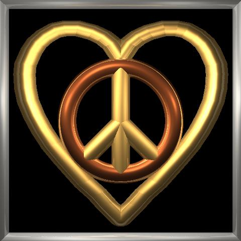 Raytraced Peace And Love Symbol By Mcsoftware On Deviantart
