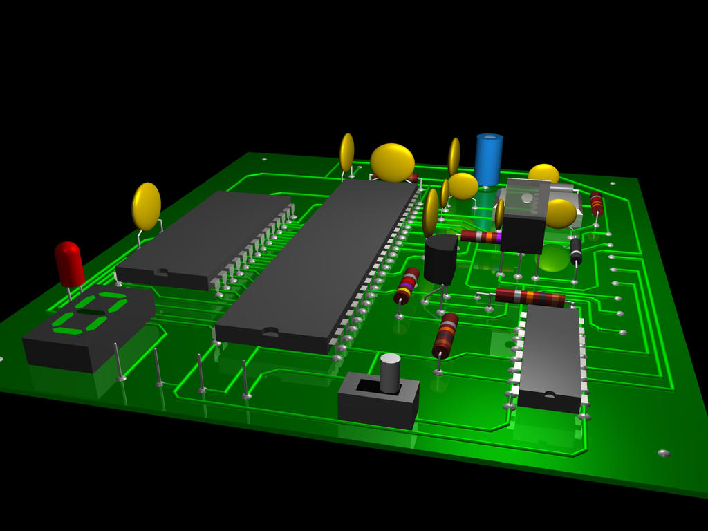Raytraced Printed Circuit Board by mcsoftware on DeviantArt
