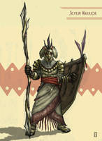 Skykin Warrior by aGiantSalamander
