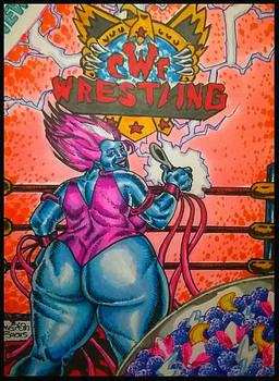 LADY LUNAR CWF Wrestling Cereal Box