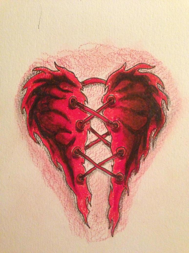 Heart broken tattoo quotes quotesgram for Broken heart tattoos
