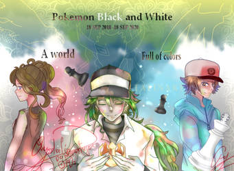 World full of colors- Pokemon B/W 10th anniversary by Crystalinart