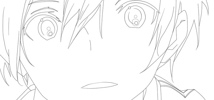 Kirito Lineart : Kirito lineart by borealisalaska on deviantart