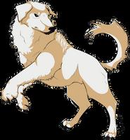 Naga The Polar Bear Dog by iRaynebow
