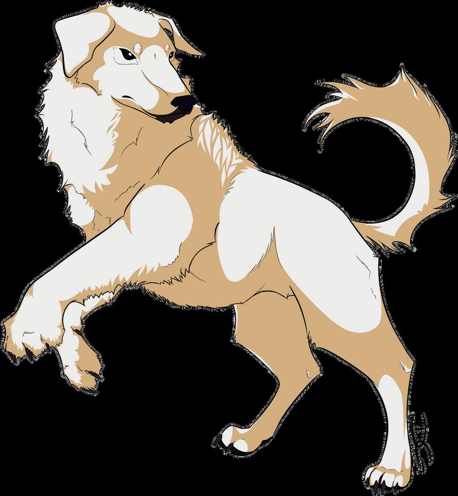 naga the polar bear dog by iraynebow on deviantart