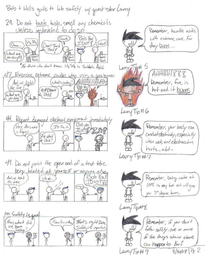 Cartoon Guide To Lab Safety P2 By Watsyurname529 On Deviantart