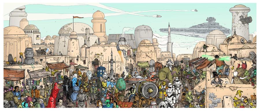 Stroll on Tatooine by UlisesFarinas