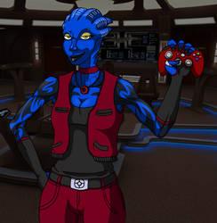 Reeshara Xano AKA The Blue Widow by BiscuitReloaded