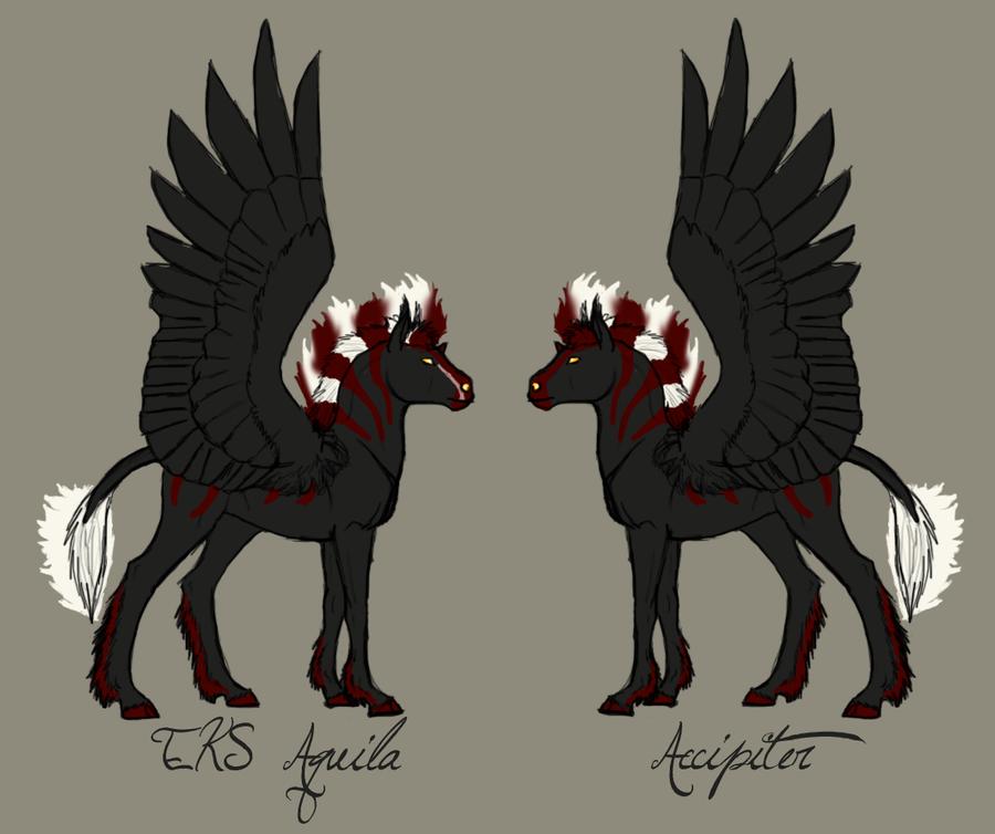 Halley X Malcarnus Foals by ReaWolf