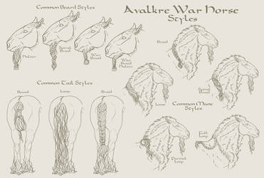 Avalkre War Horse Styles by Cogaidh