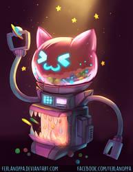 Space Neko Candy Dispenser by FerlanOppa