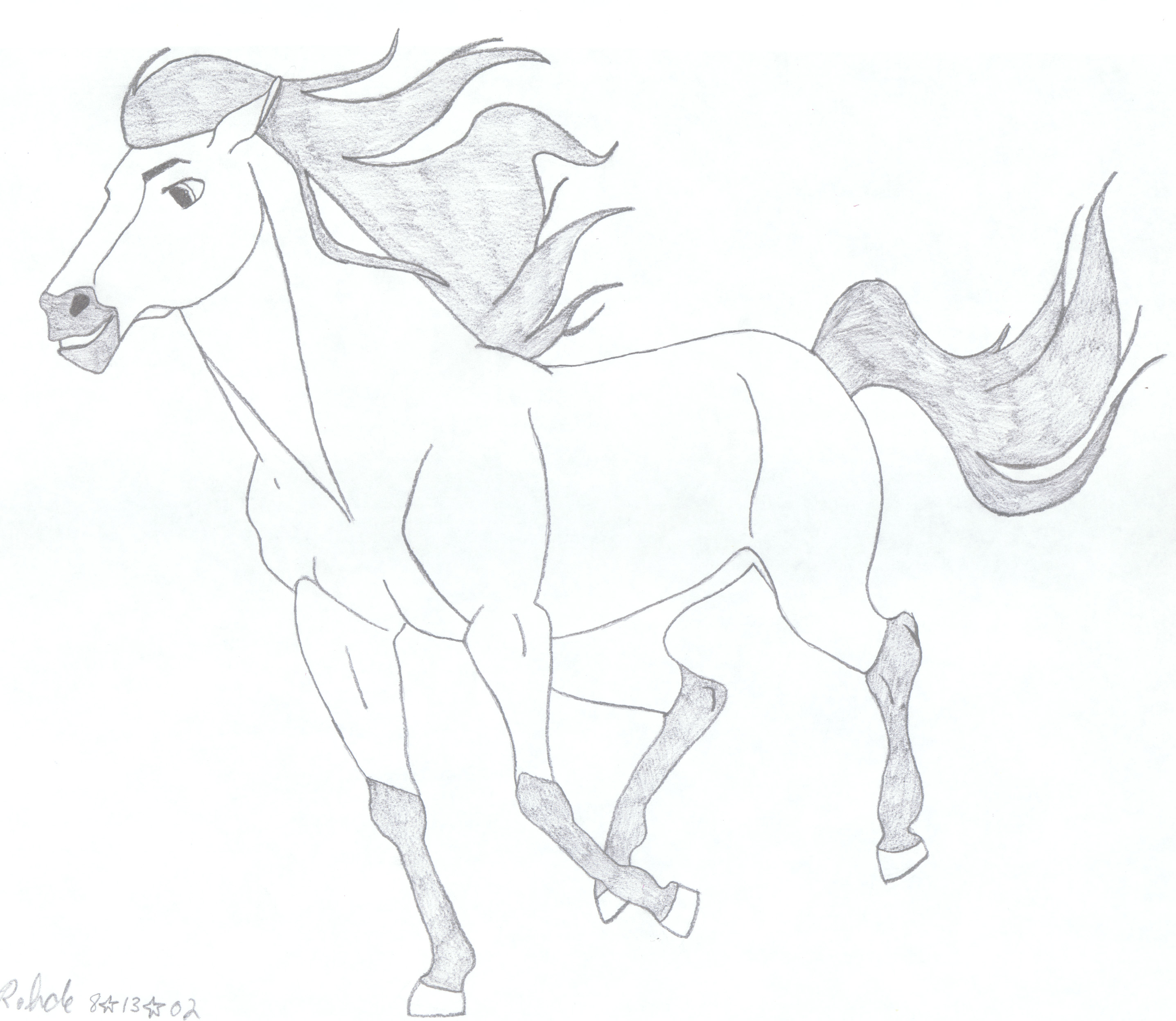 Wild Horse Coloring Pages | Spirit: Stallion of the Cimarron (2002 ... | 2495x2873