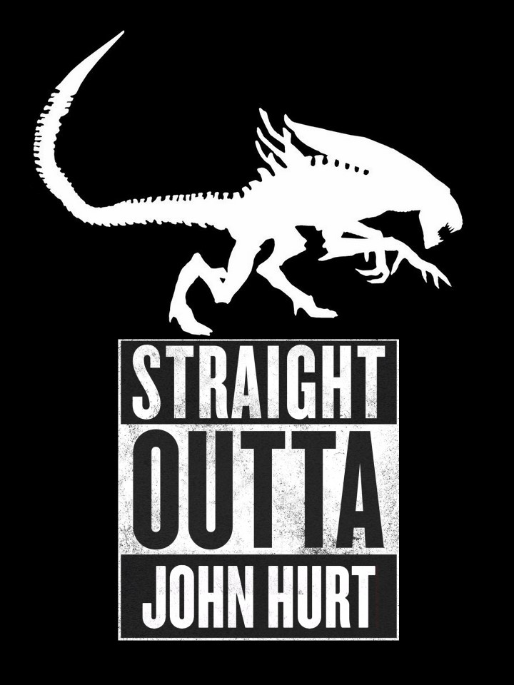 Straight Outta John Hurt shirt idea by Aradrath