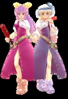 MMD-Yorihime and Toyohime by ciripahn