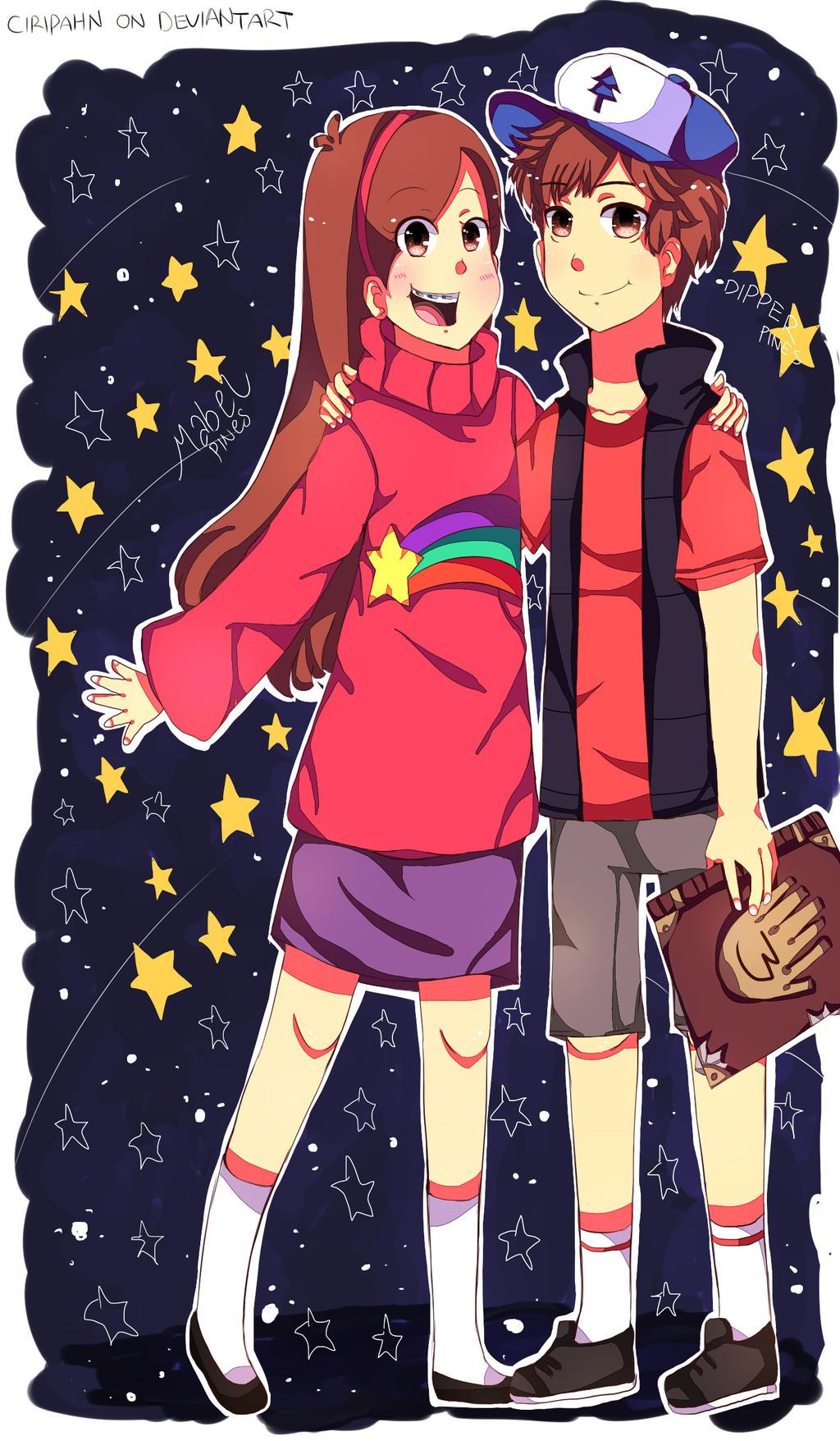 Gravity Falls Anime Waddles Gravity falls-dipper and mabelGravity Falls Mabel And Waddles And Dipper