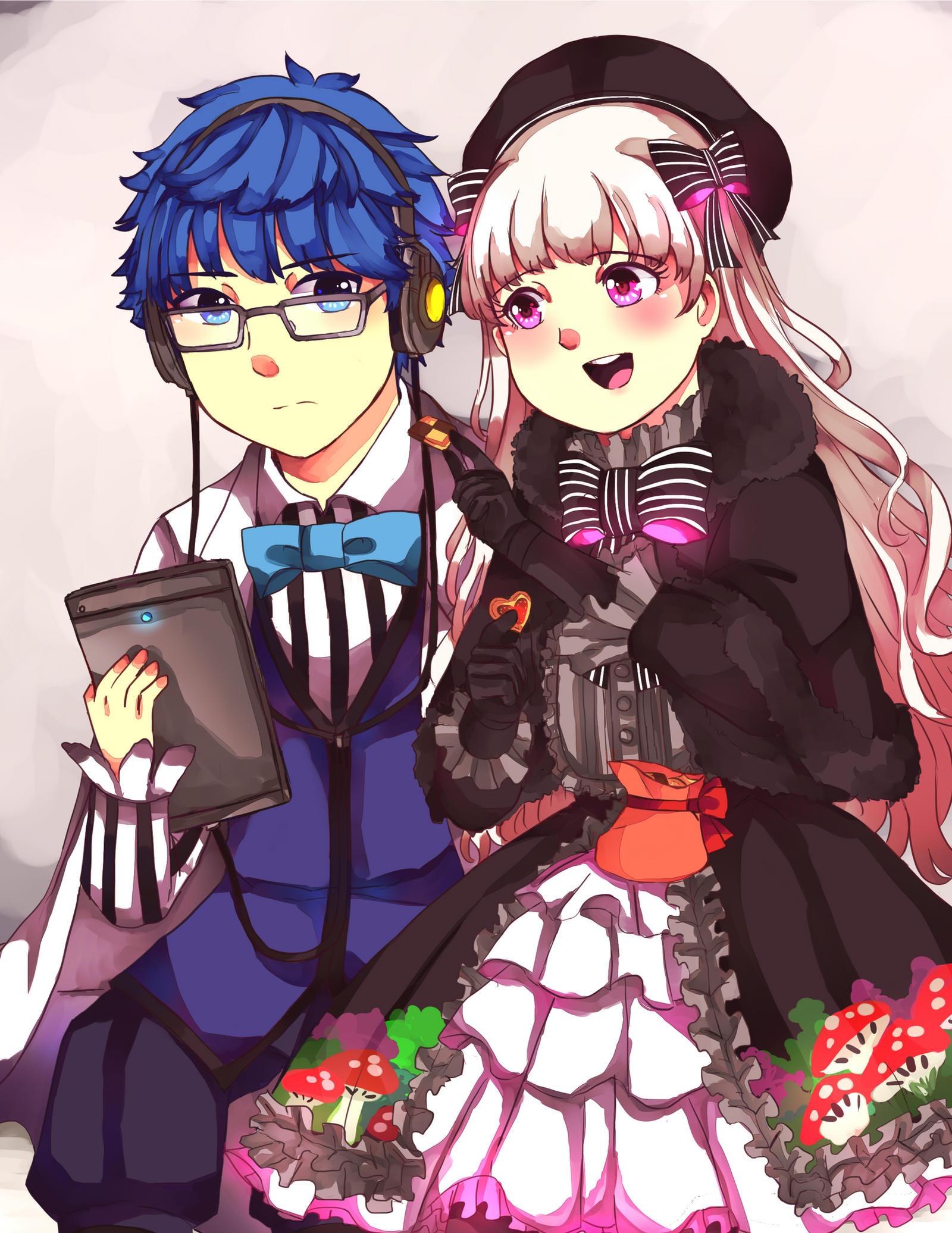Alice (Nursery Rhyme ) and Hans by ciripahn