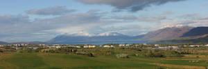 Veiw over Akureyri