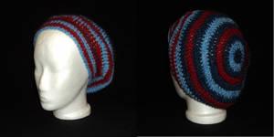 Tricolour Tam, Icelandic Wool, Handmade