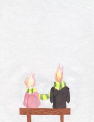 my head is on fire. shucks. by RexyisaShark