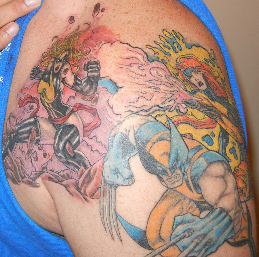 Marvel tattoo piece by thedirtybird1