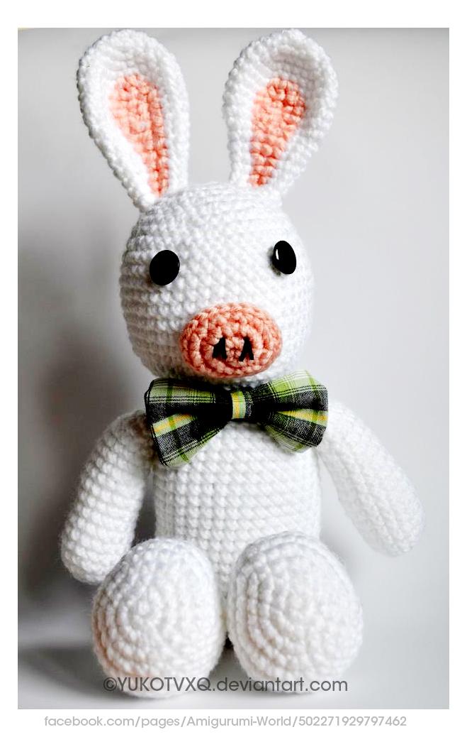 Pig Rabbit Amigurumi Patron : Pig Bunny (Amigurumi-World). by YukoTVXQ on deviantART