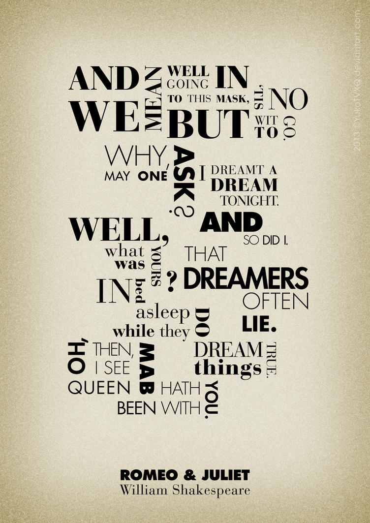Shakespeare Quotes About Love Romeo And Juliet Quotes Posterjudithzzyukogd On Deviantart