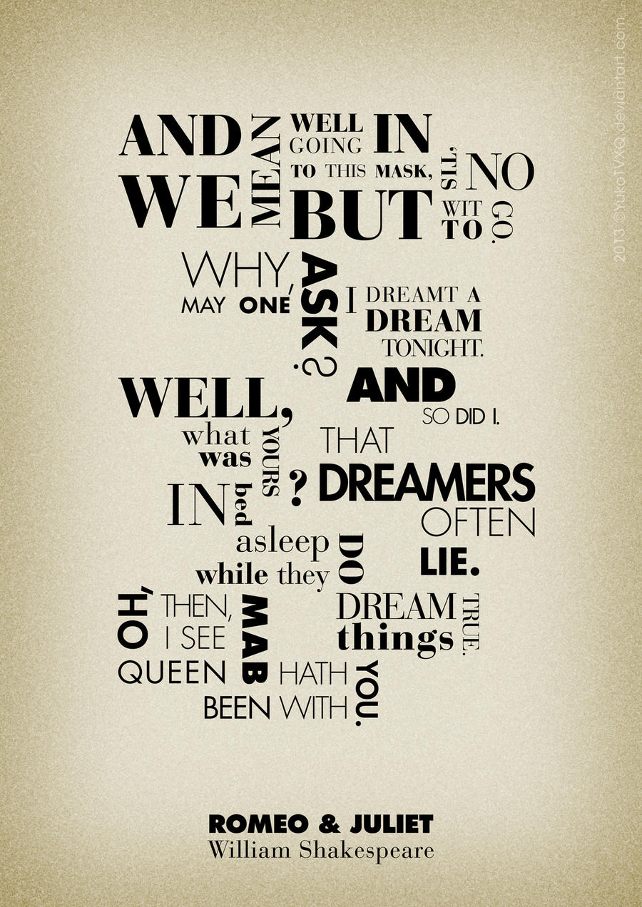 Romeo and Juliet Quotes Poster by JudithzzYukoGD on DeviantArt