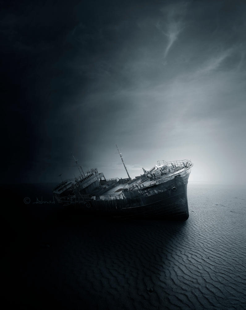 Wreckage of dreams by Ahmed-R-Shalaby