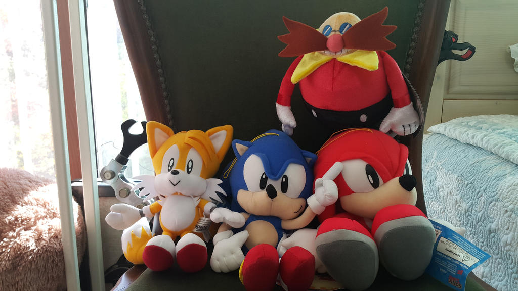 Sonic, Tails, Knuckles, Dr.Eggman Plush by DarkTails-X