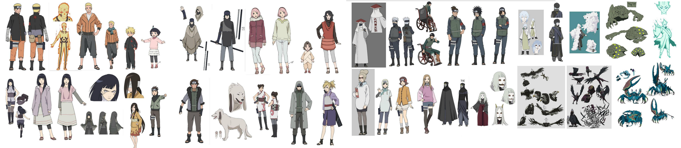 Naruto The Last Character Design Color : The last naruto movie characters art by aloli on