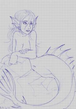 Internship sketches - Watchful Mermaid