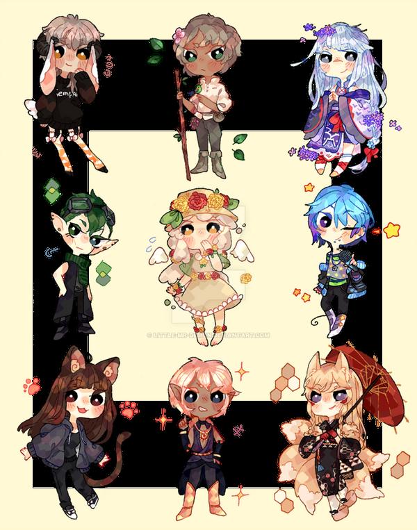 Cute chibi commission Batch by little-mr-demon
